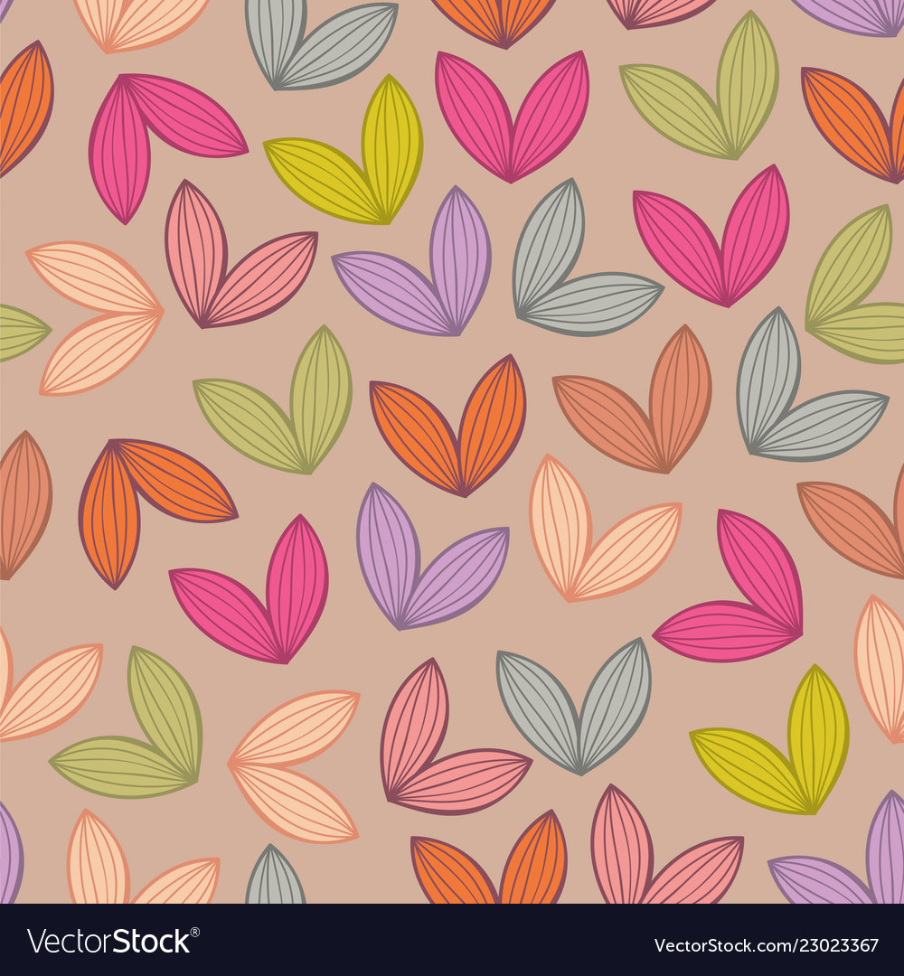 Seamless background pattern with leaf
