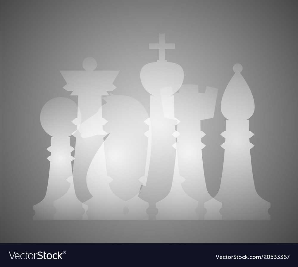 Set of chess figures vector image