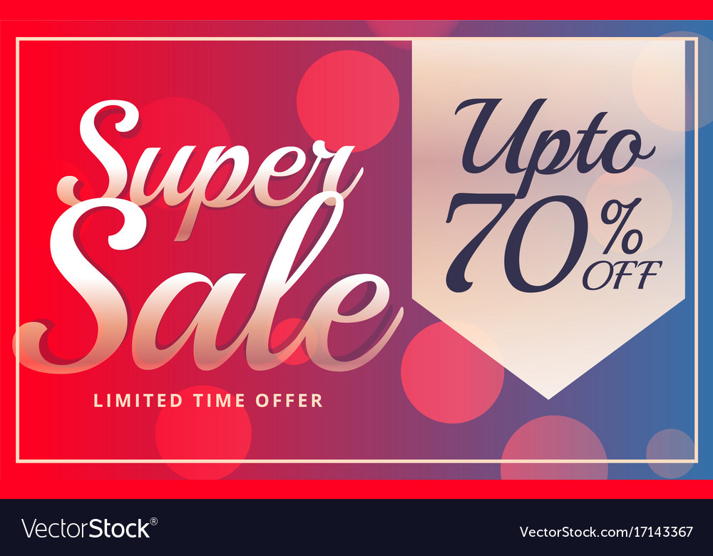 super sale vibrant brochure design template in vector image