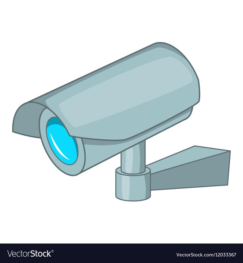 Surveillance Camera Icon Cartoon Style Royalty Free Vector