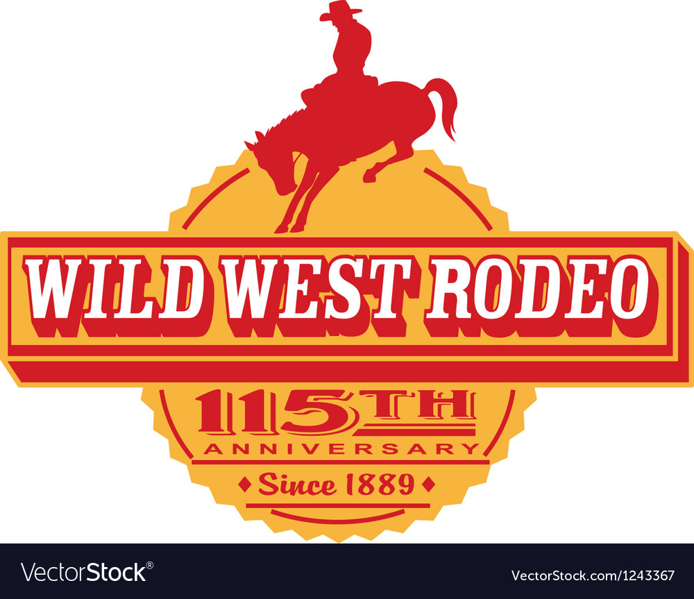 Wild west Rodeo poster