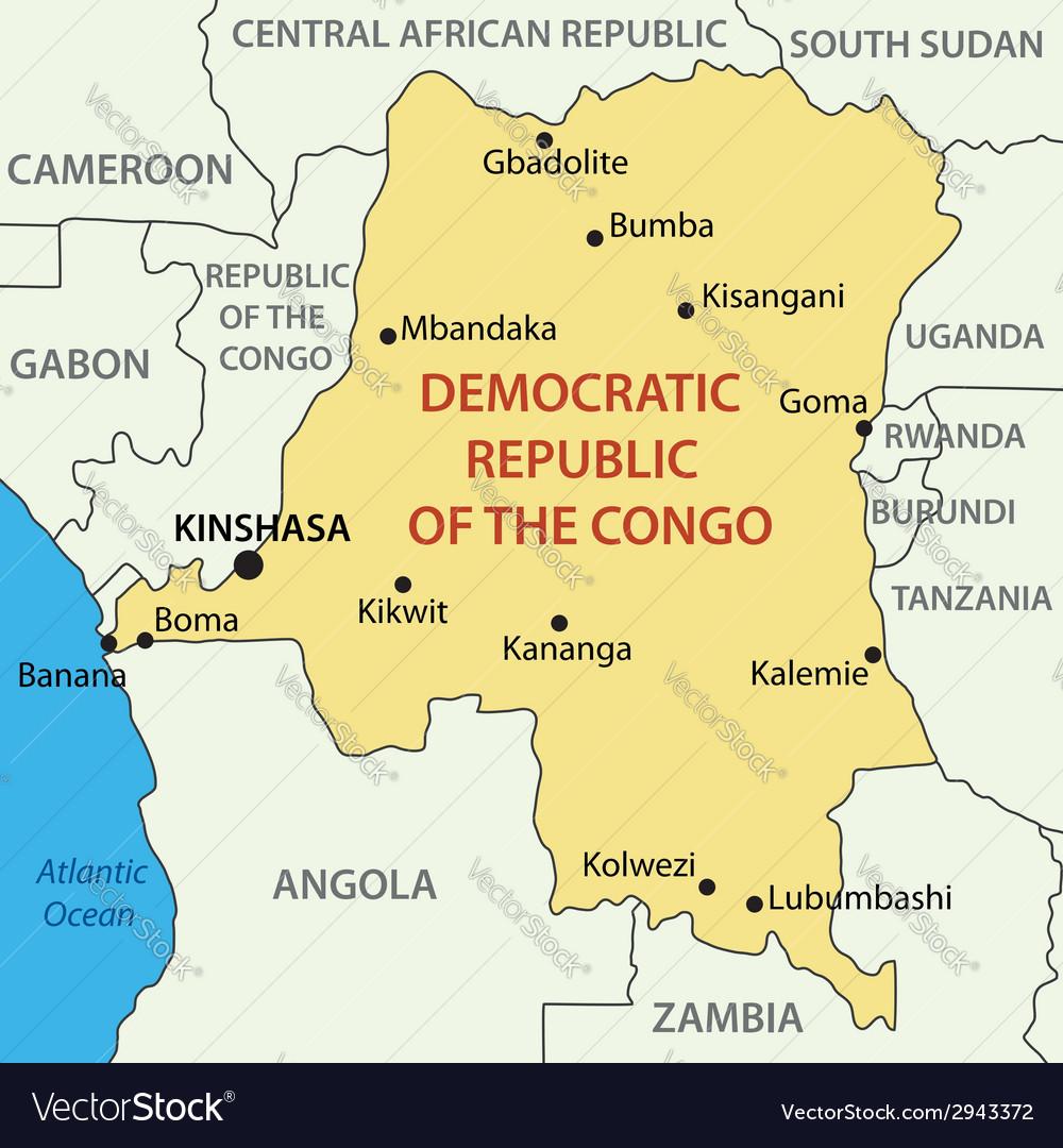 Map Of Congo Democratic Republic of the Congo   map Royalty Free Vector