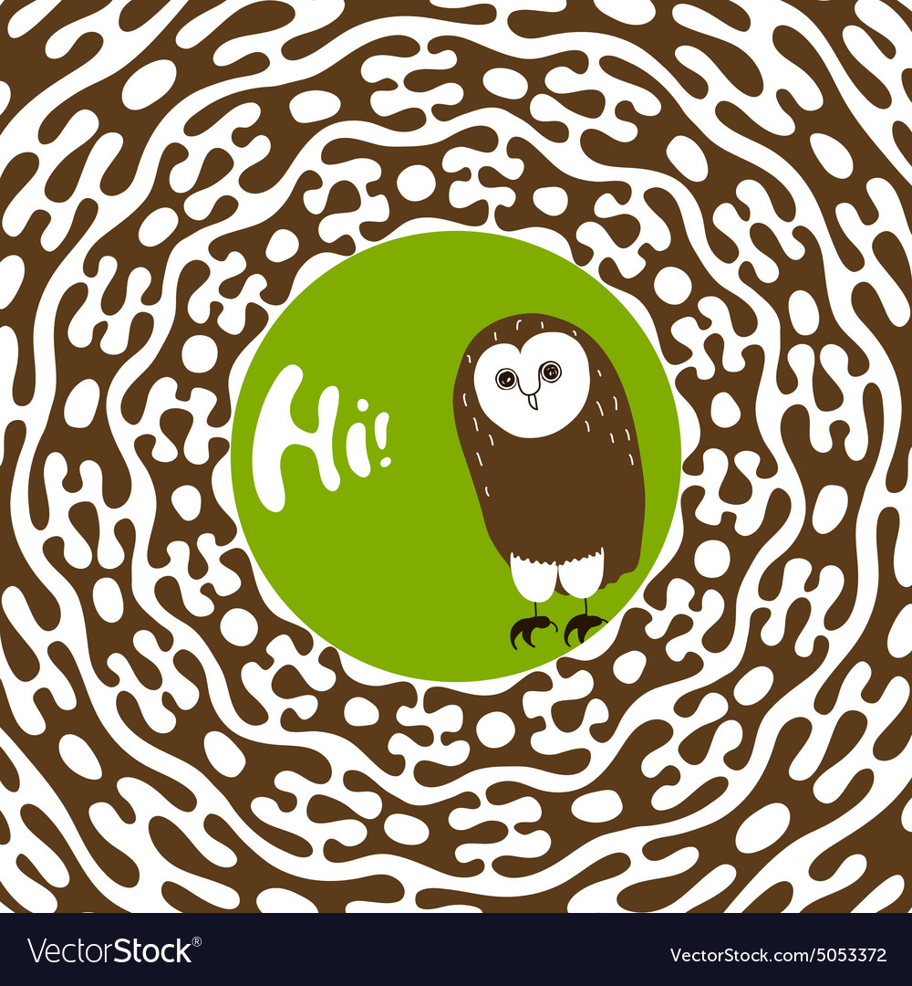 Greeting card design template Hand-drawn cute vector image