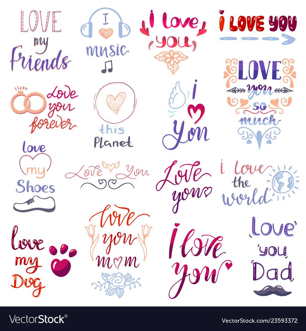Love lettring lovely calligraphy lovable