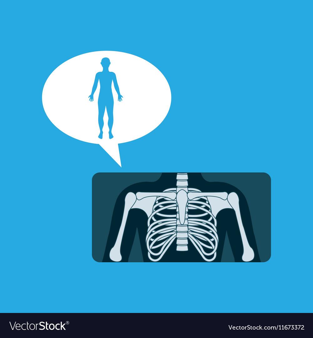 Silhouette man x ray anatomy body