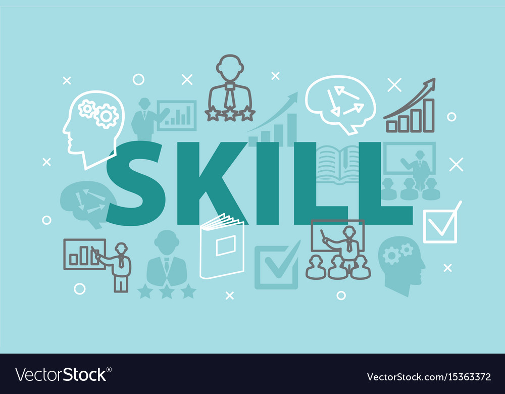 Skill concept with icons vector image
