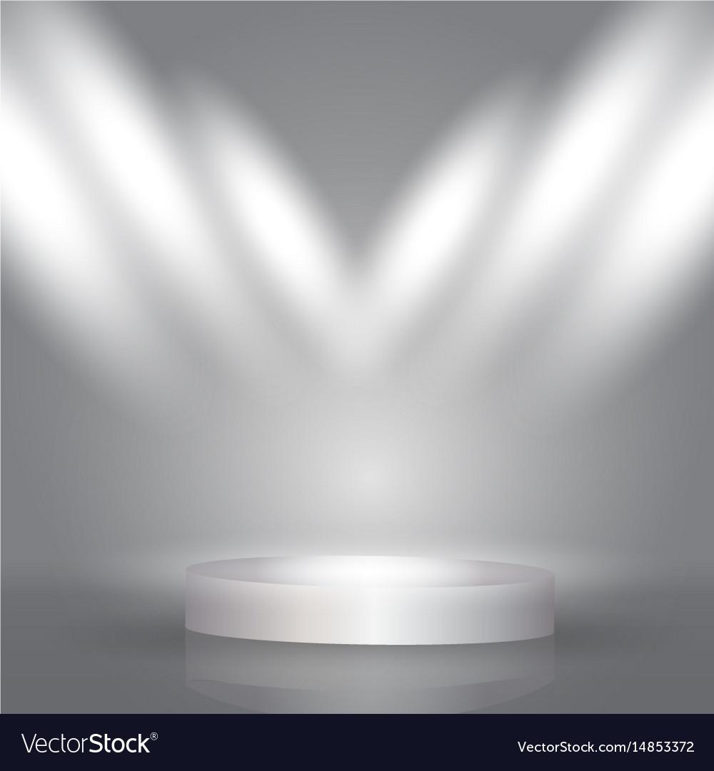 Spotlight Display Background Royalty Free Vector Image