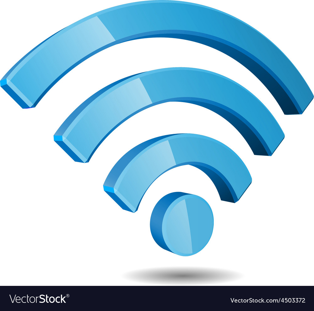 Wi Fi Wireless Network Symbol Royalty Free Vector Image