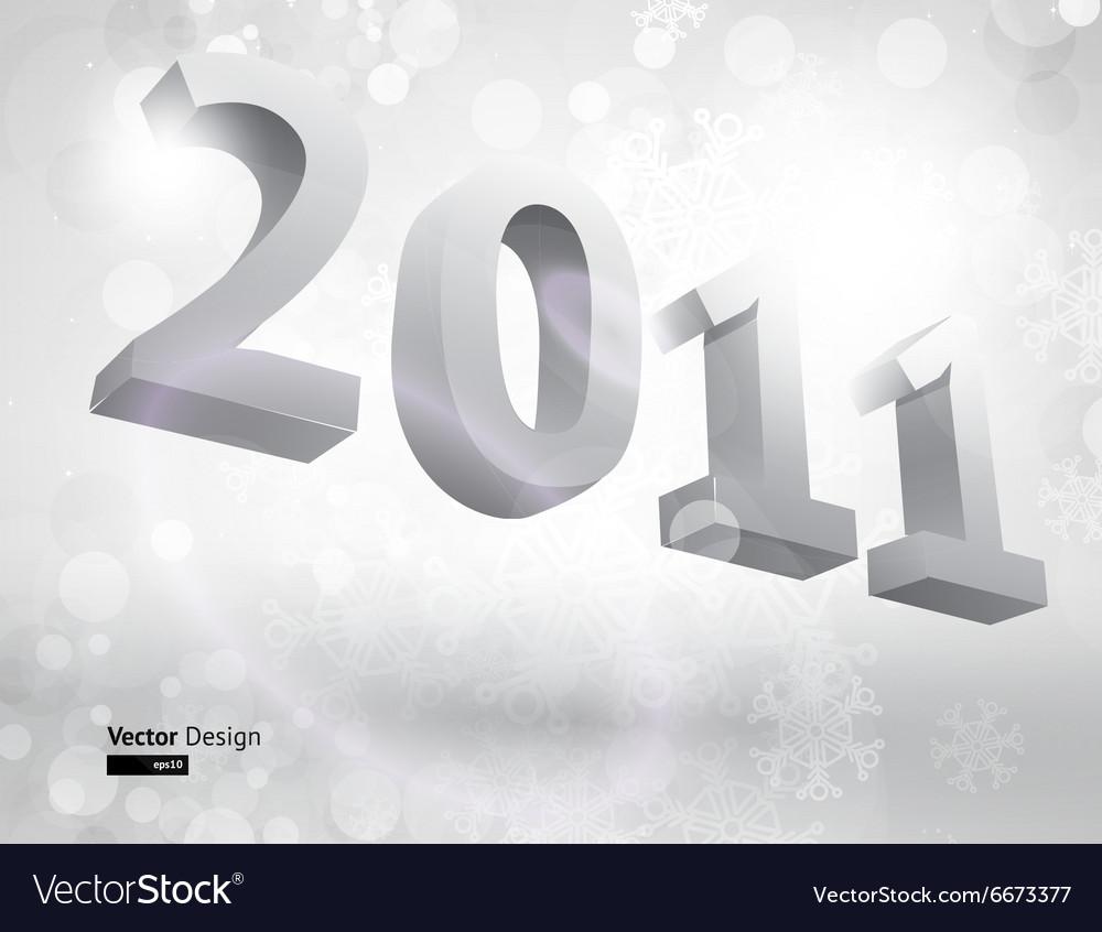 3D 2011 Block Letters