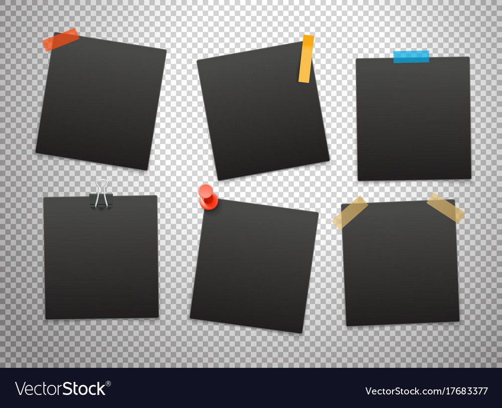 Black frames isolated on transparent background