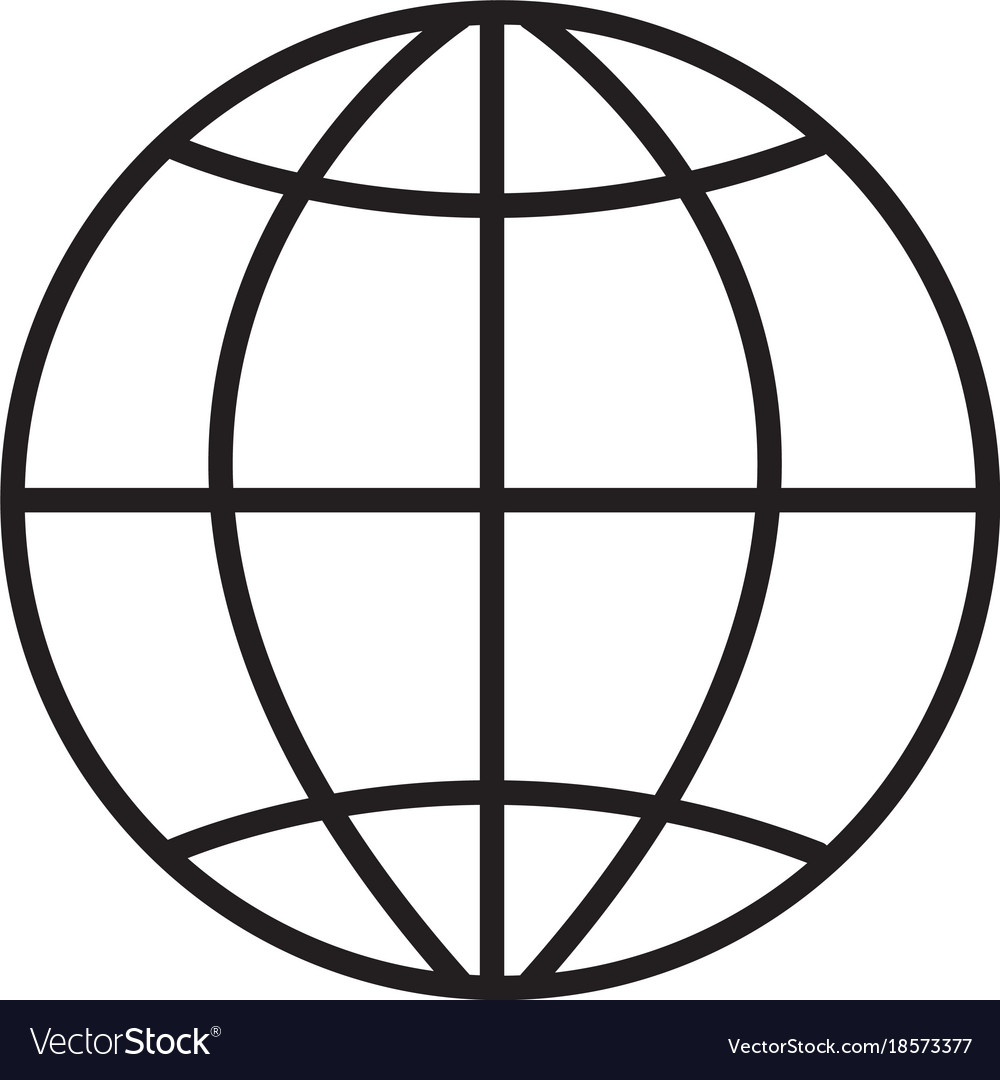 globe icon on white background globe sign flat vector image rh vectorstock com globe icon vector blue internet globe icon vector