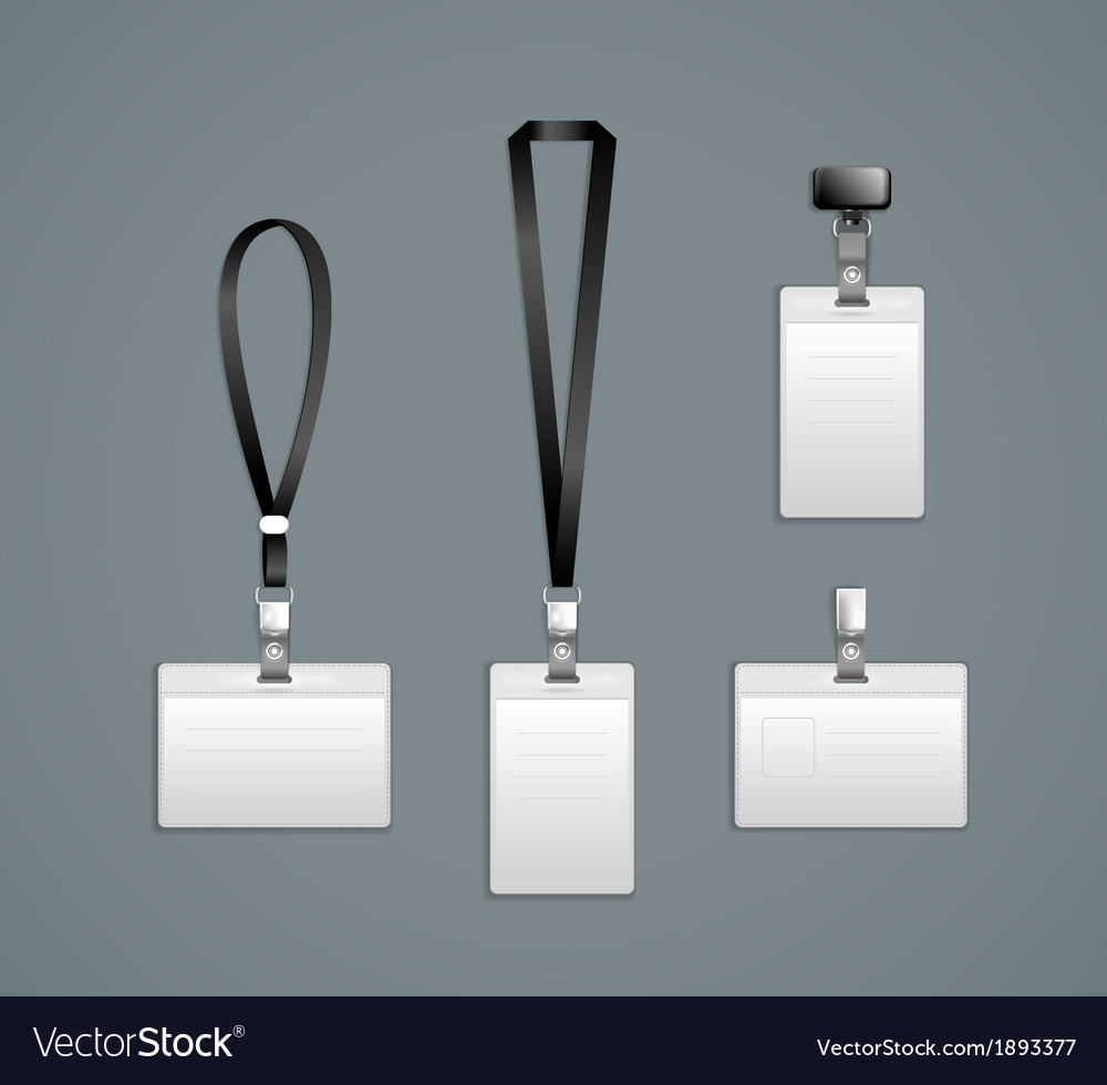 Lanyard Retractor End Badge Templates Royalty Free Vector - Free lanyard template