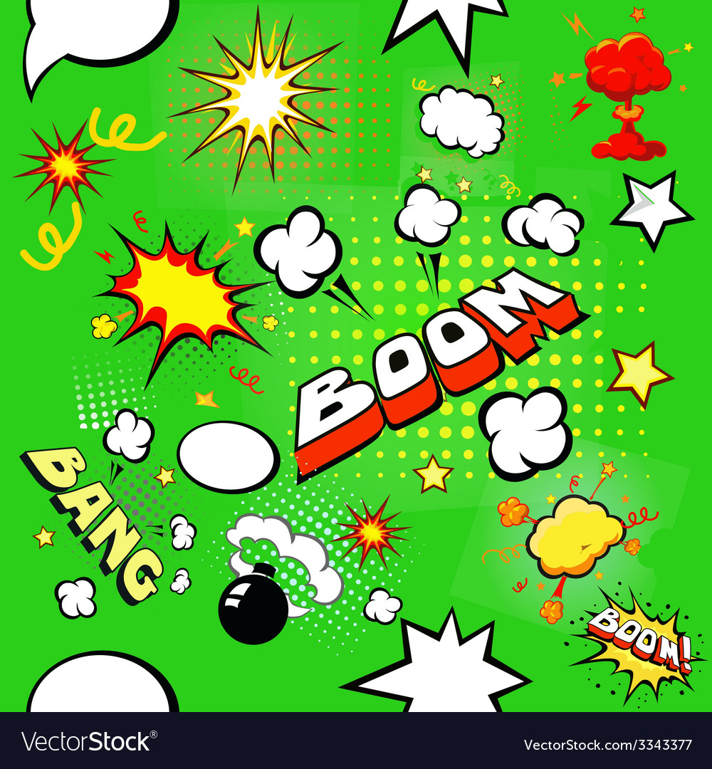 Seamless pattern background with comic book speech
