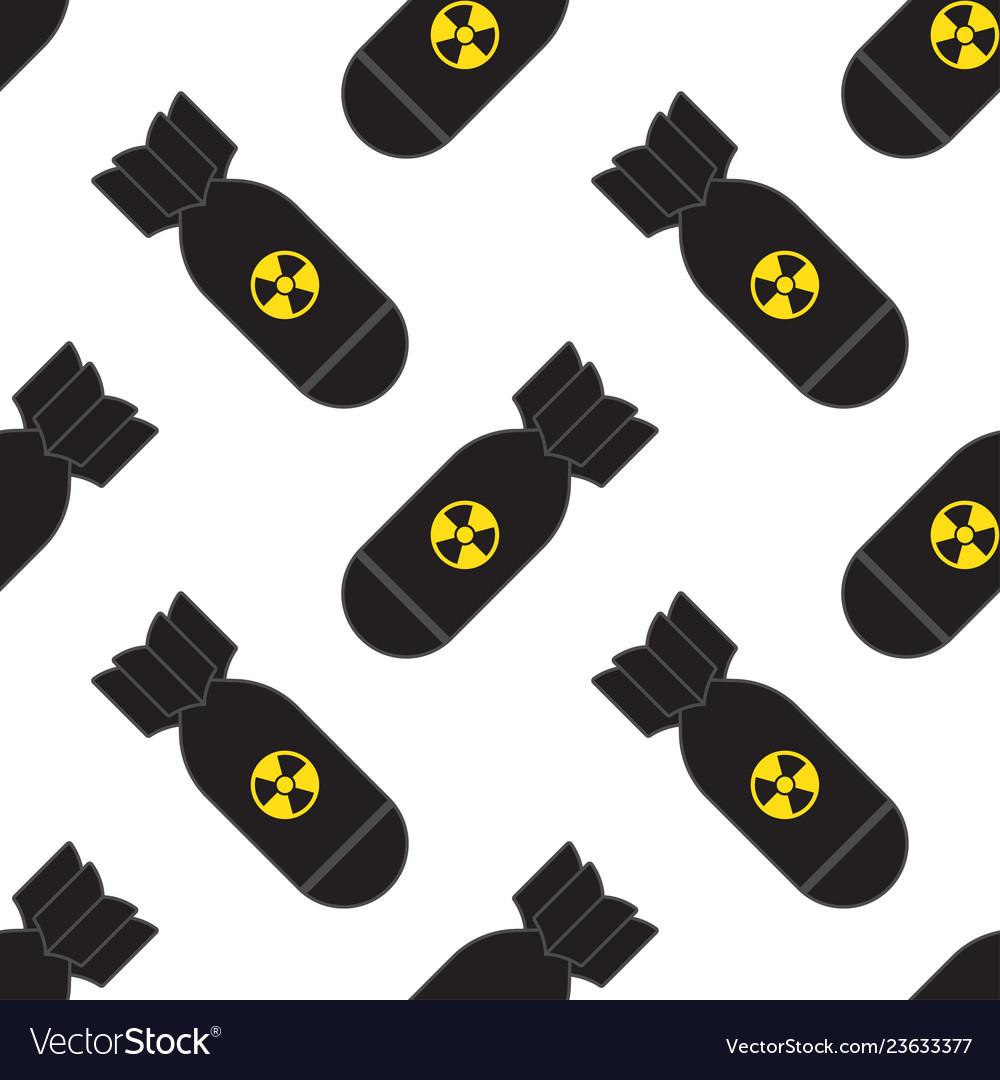 Seamless pattern of falling bombs