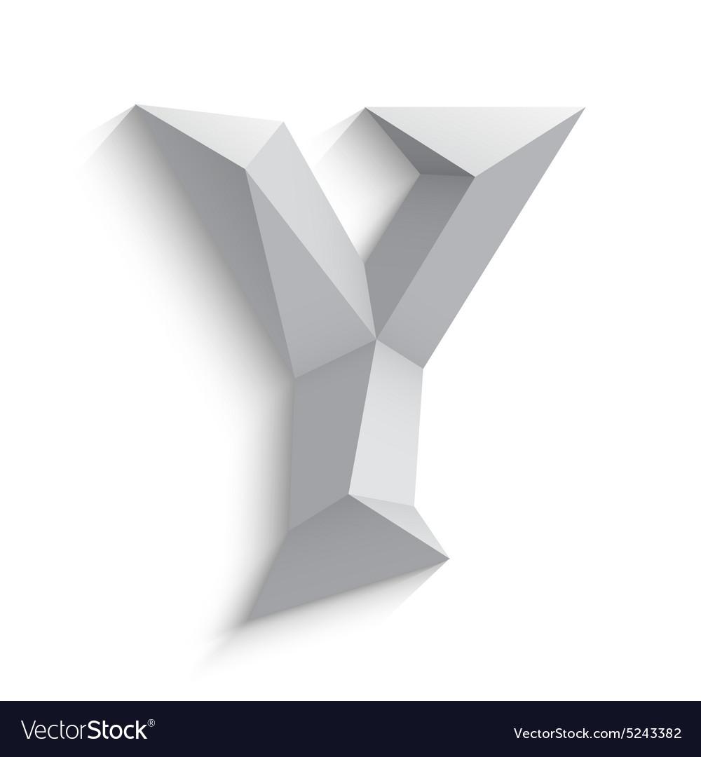 3d letter Y on white