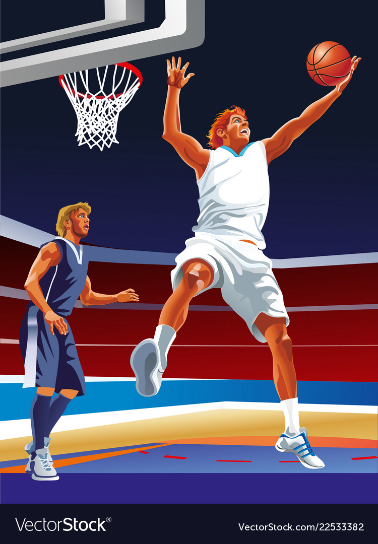 Basketball game sport player in action