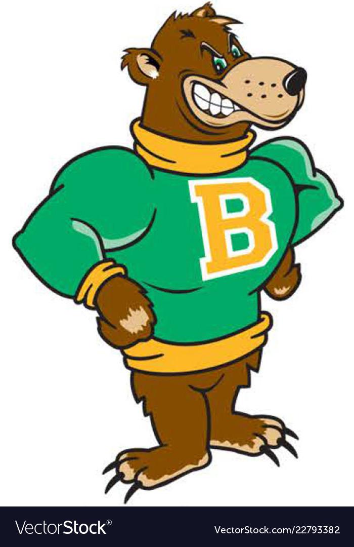 Bear sports team mascot logo