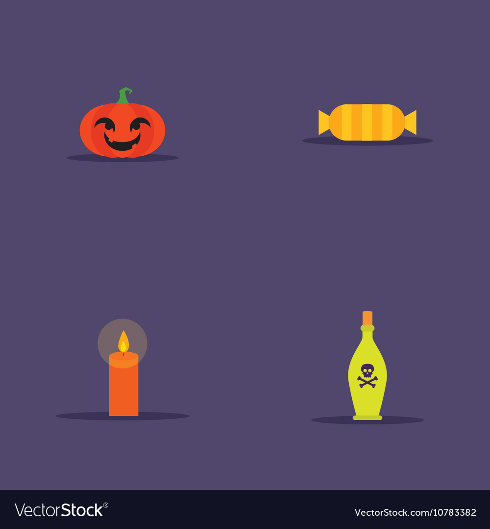 Cartoon halloween objects