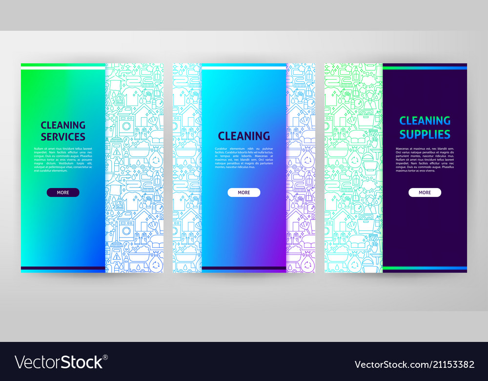 Cleaning brochure web design