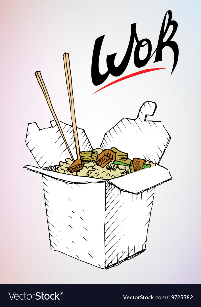Drawing wok box