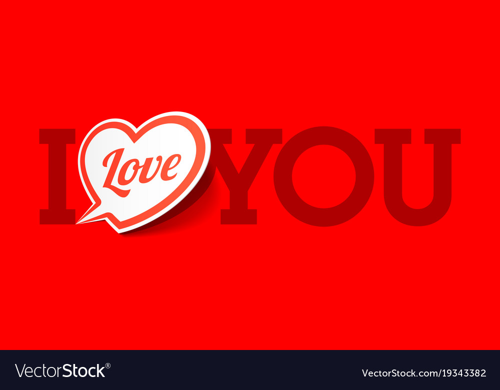 I love you valentines day greeting card vector image