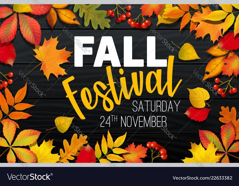 November fall autumn festival announcement