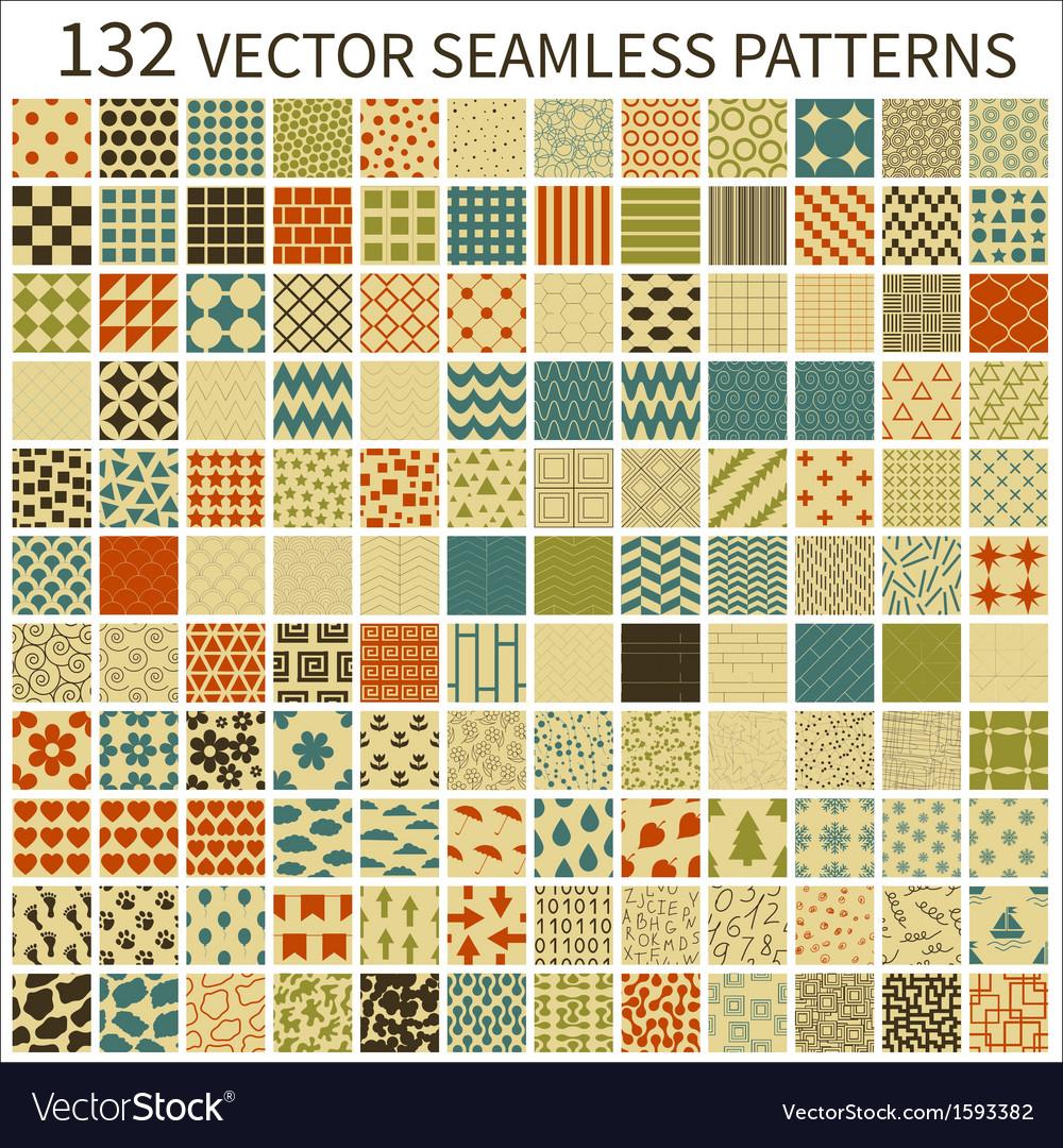 Retro seamless patterns vector image