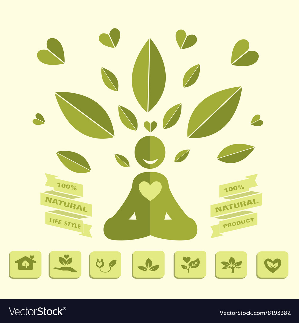 Yoga Healthy Lifestyle Infographics Royalty Free Vector