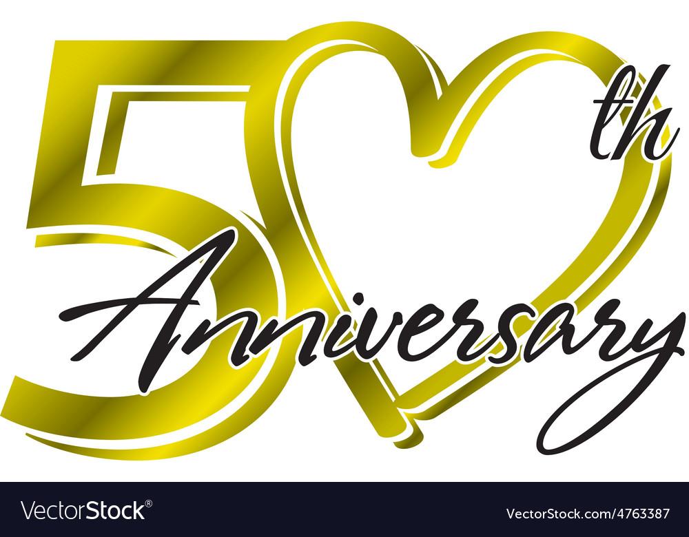 50th Anniversary Royalty Free Vector Image Vectorstock