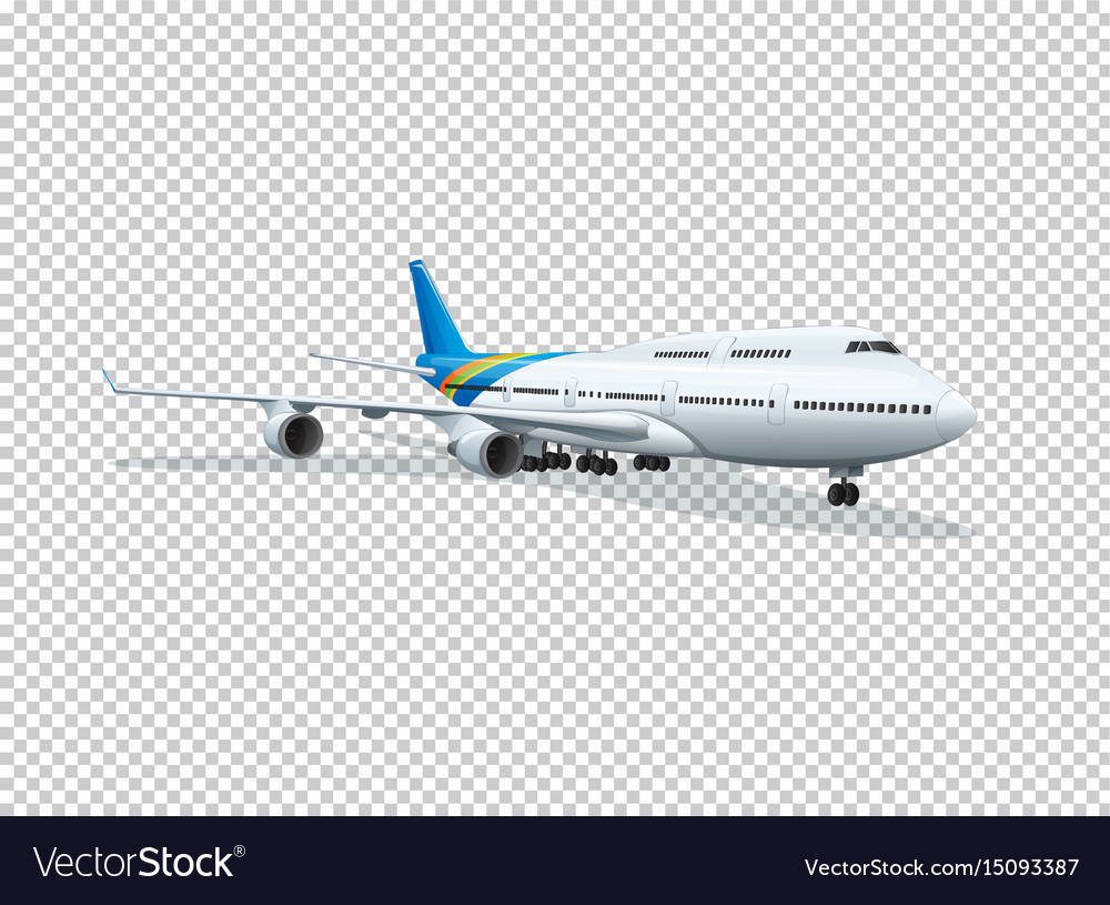 Airplane On Transparent Background Vector Image