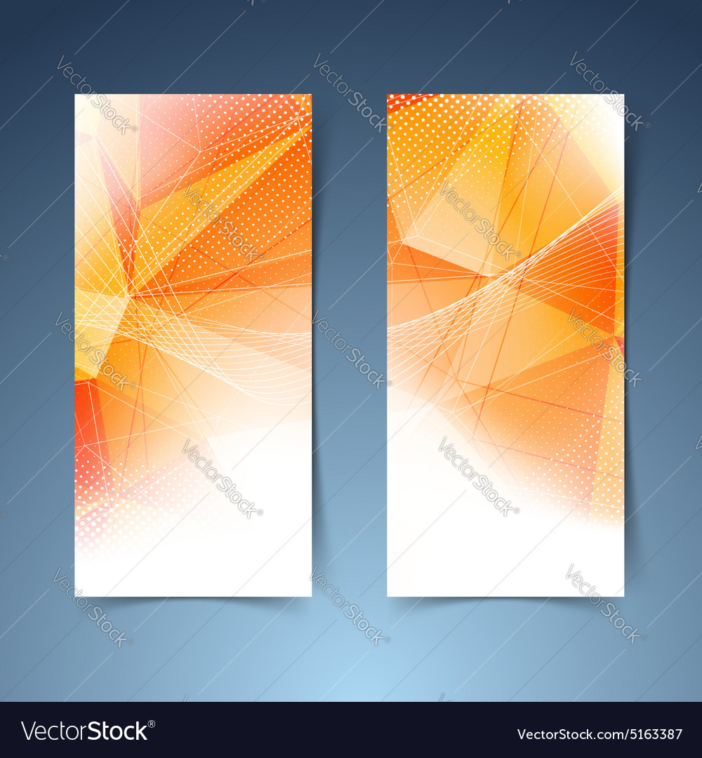 Bright orange crystal structure banner set