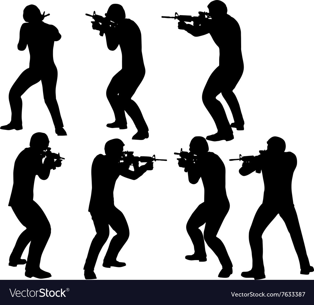 Businessman soldier shoot vector image