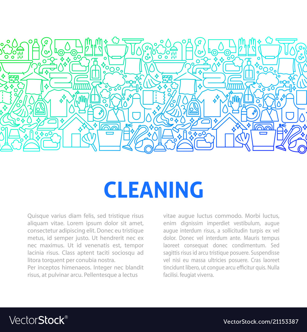Cleaning line design template
