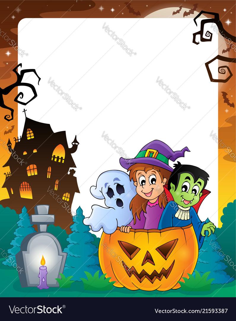 Halloween Theme Frame 2 Vector Image