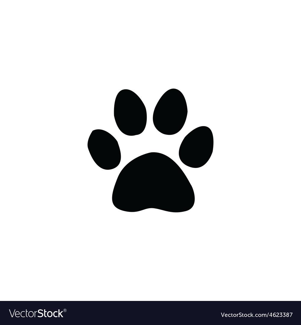 Jaguar footprint vector image