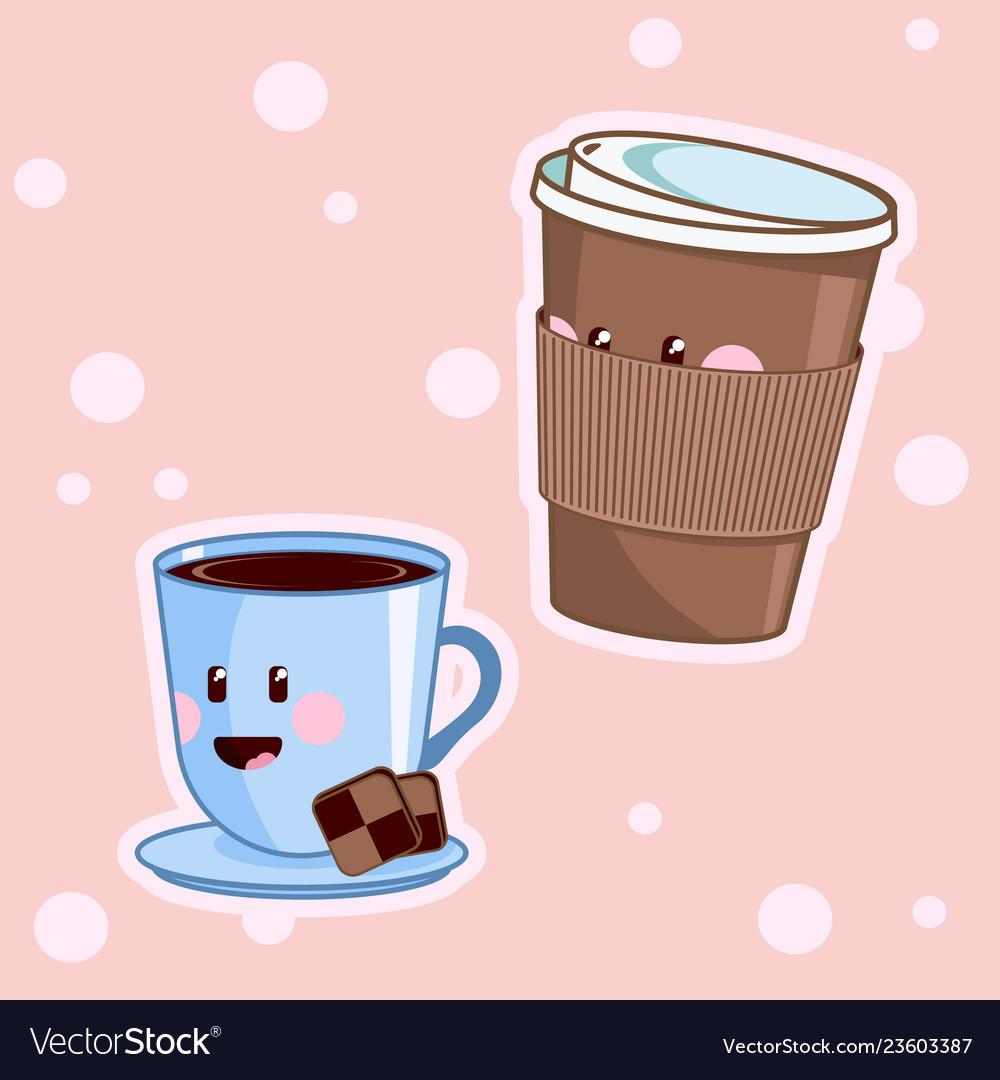 Kawaii coffee cute cafe drinks coffee