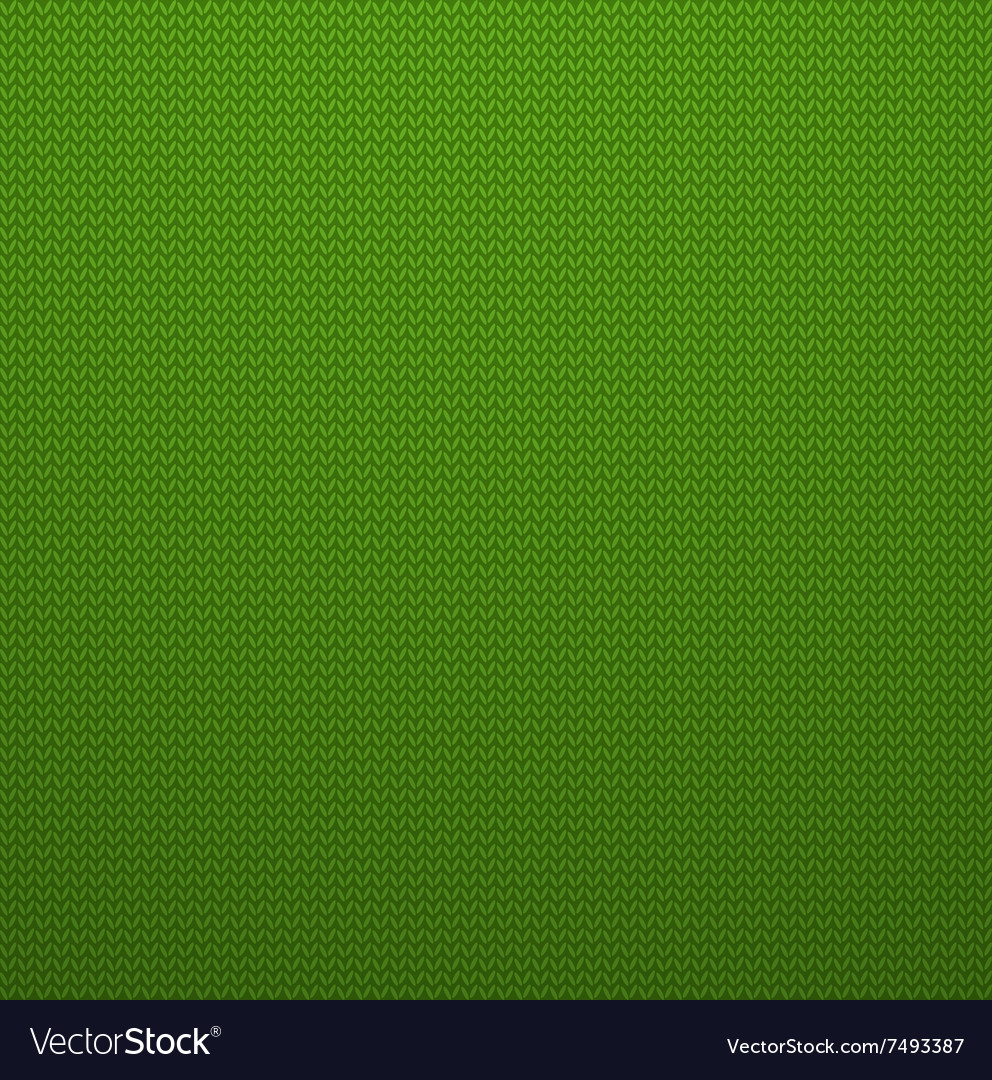 Knitted Style Green Seamless Pattern EPS10