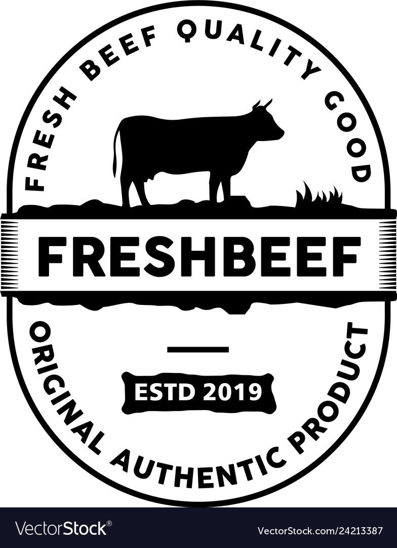 Retro vintage beef emblem label logo design inspir