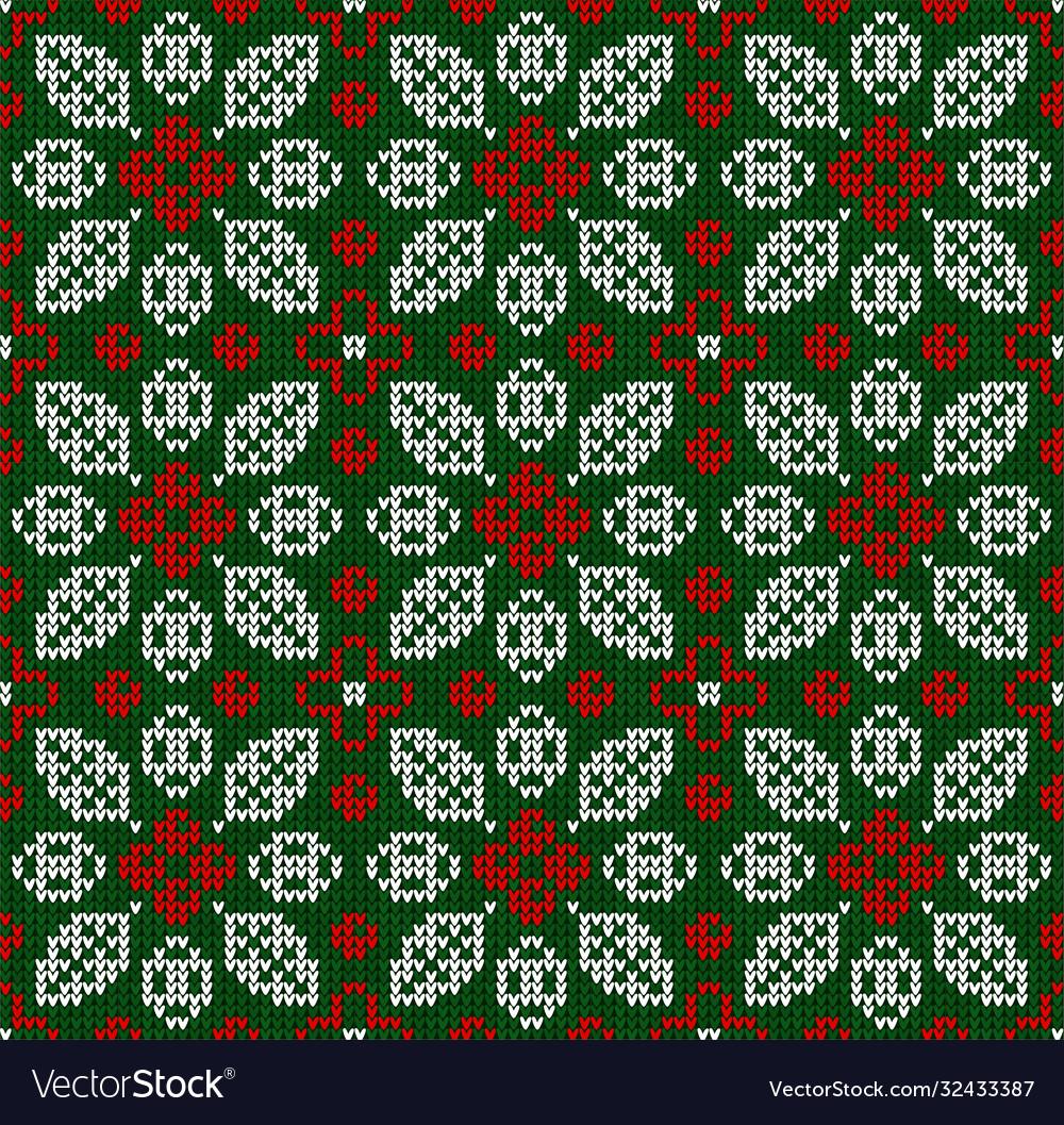 Scandinavian winter christmas knitted seamless