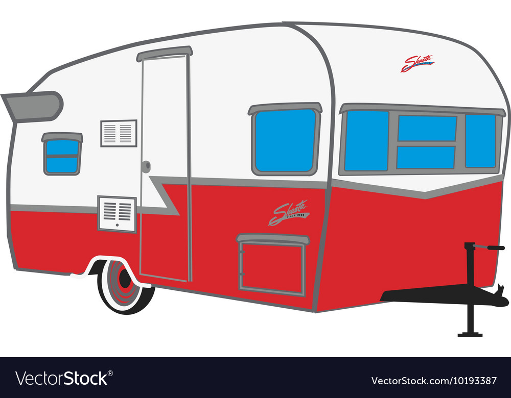 Shasta Camper vector image