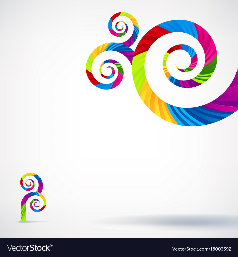 Creative abstract rainbow template background