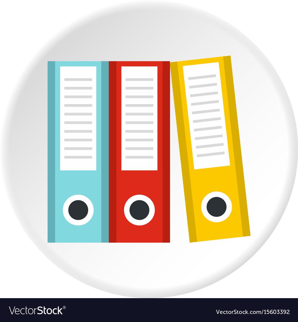 Documentation in folders icon circle