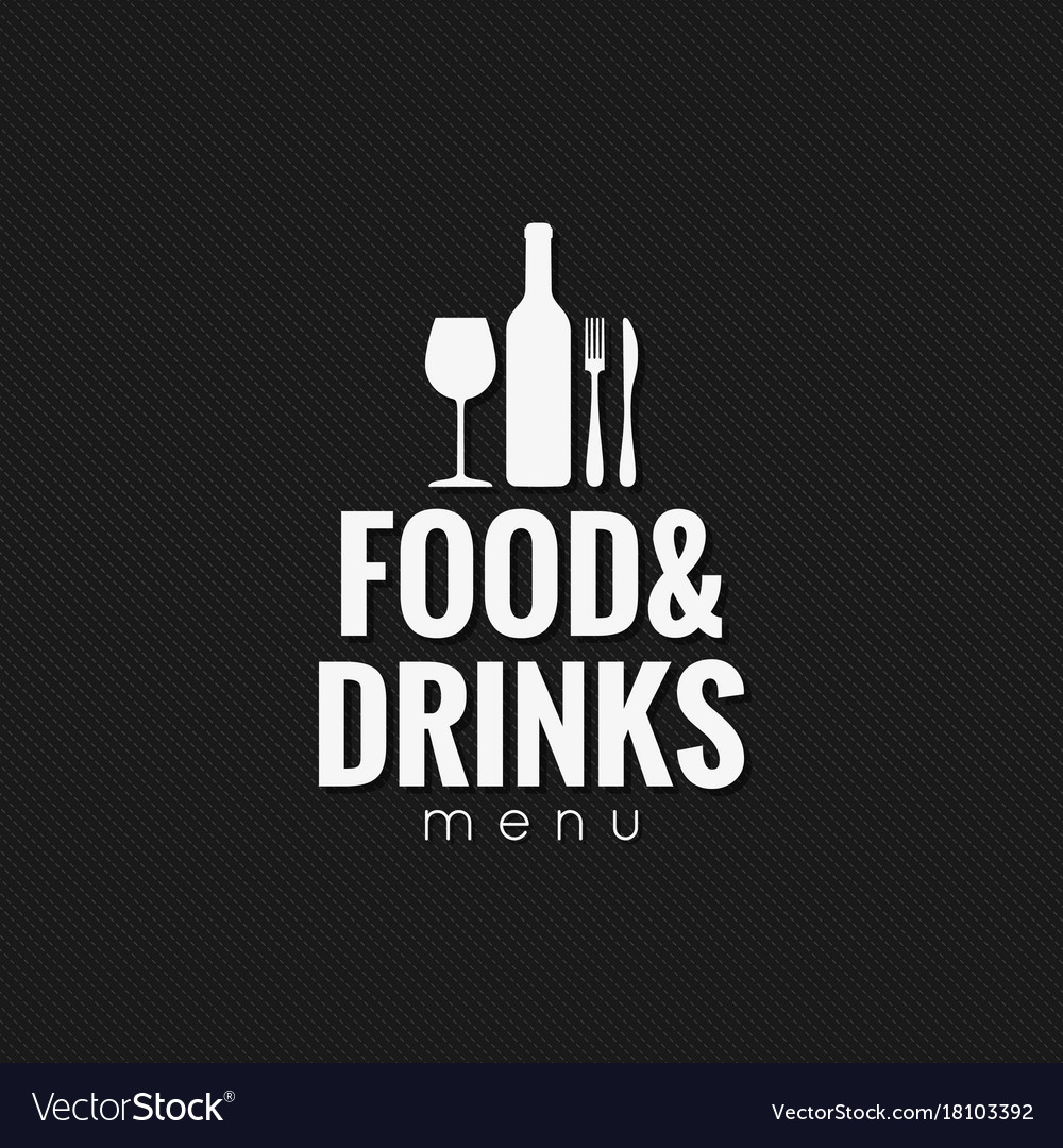 restaurant menu food and drink background vector image
