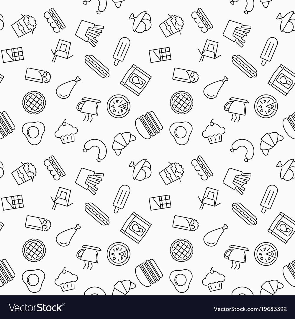 Simple fast food seamless pattern