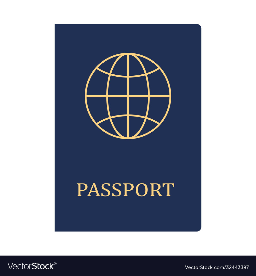 biometric blue passport icon identity document vector image biometric blue passport icon identity document vector image