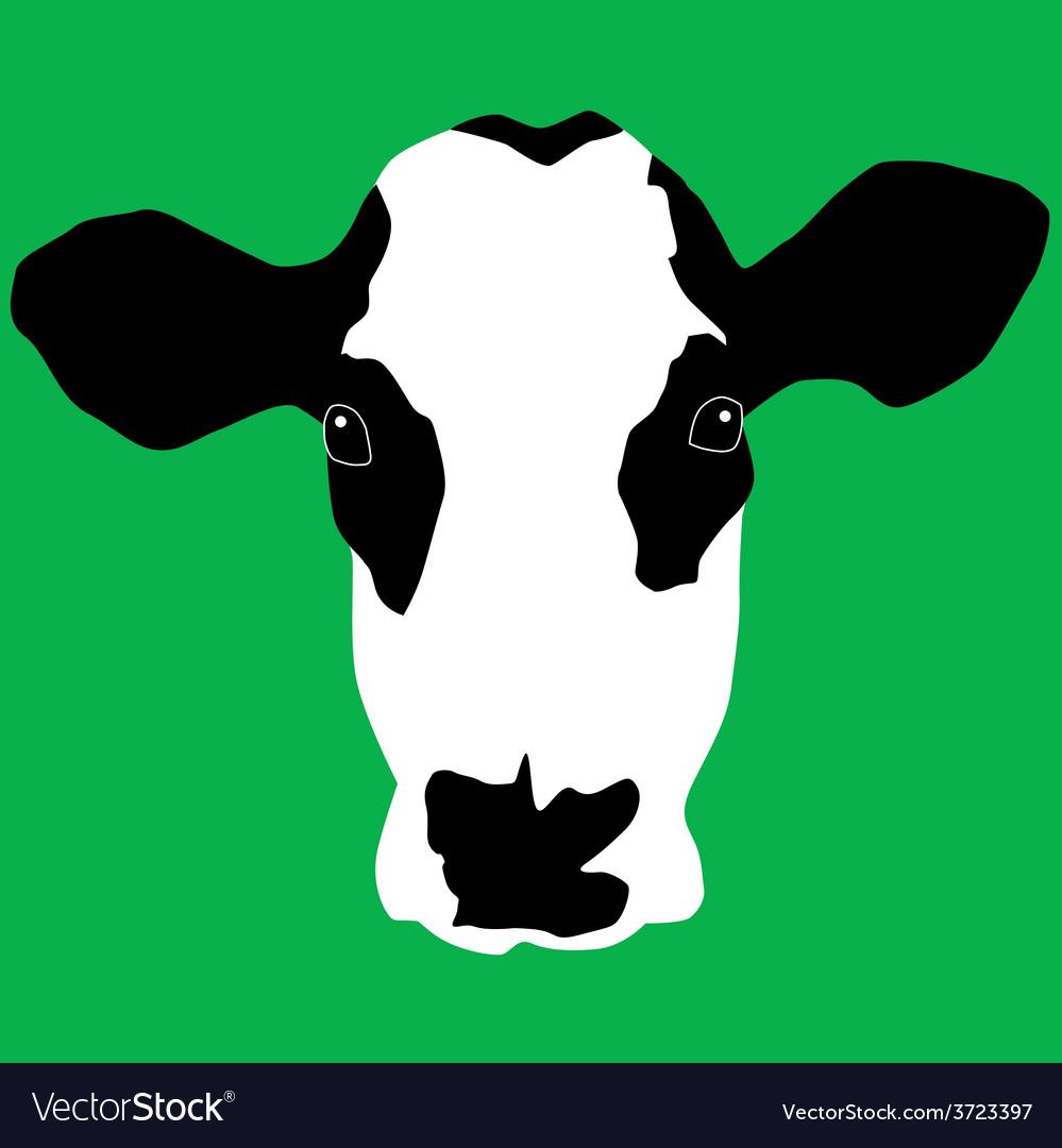 cow head royalty free vector image vectorstock rh vectorstock com head vector boots head vector boots