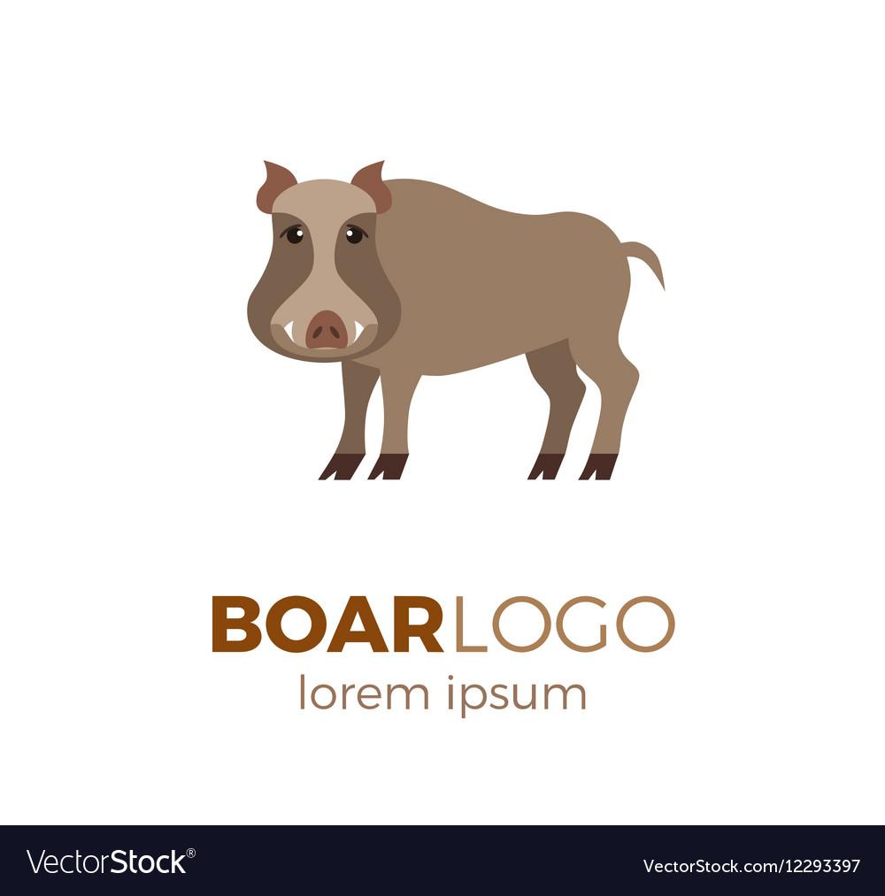 Flat boar logo