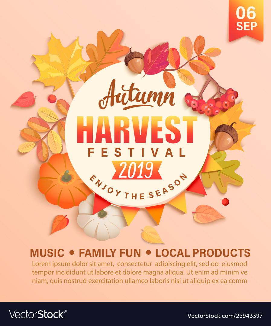 Invitation to autumn harvest festival