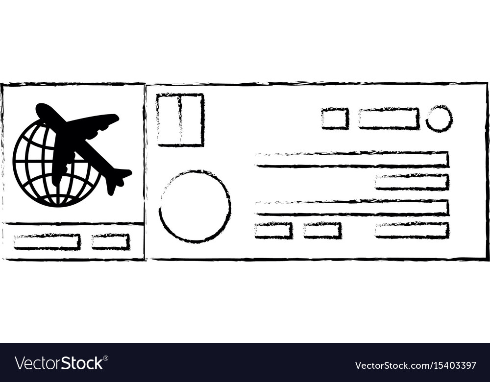 Isolated airplane ticket