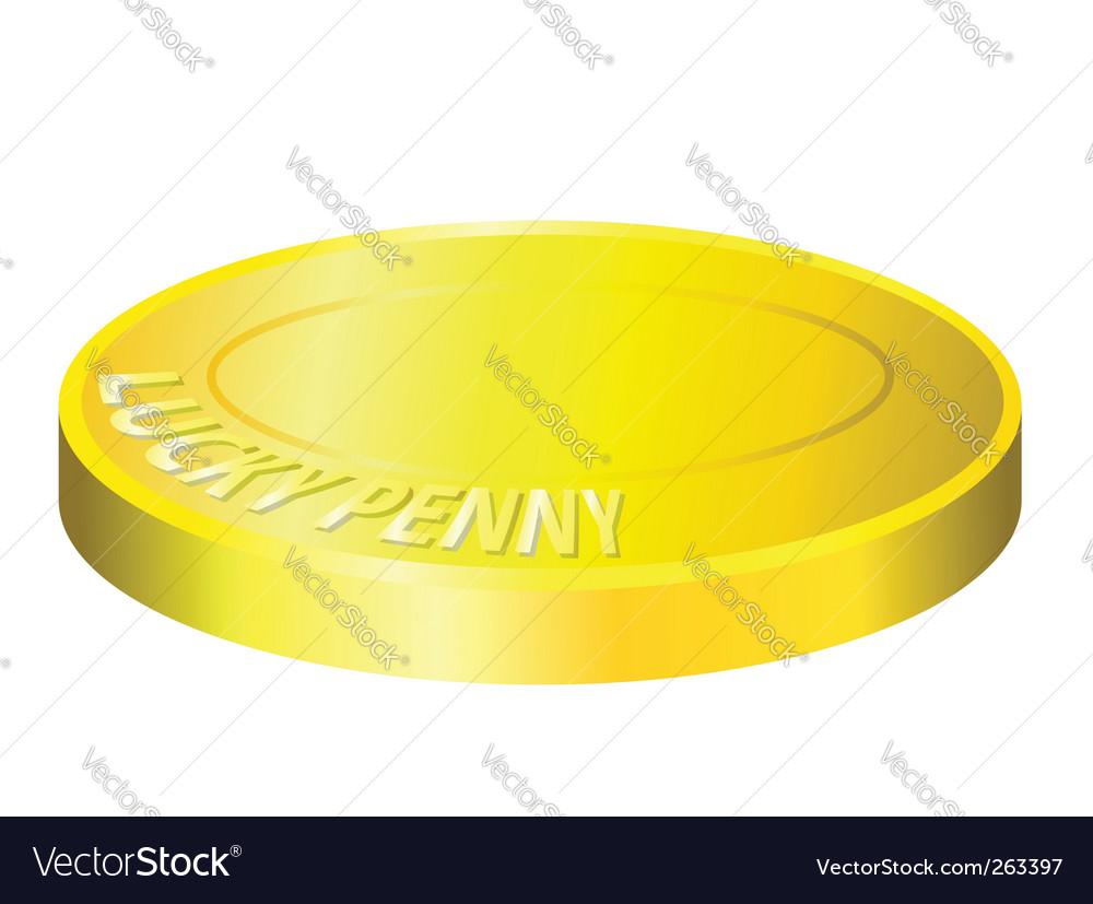 Lucky penny illustration
